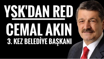 YSK'DAN İTİRAZA RED...
